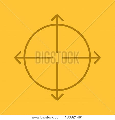 Expansion symbol color linear icon. Expand abstract metaphor. Thin line contour symbols on color background. Vector illustration