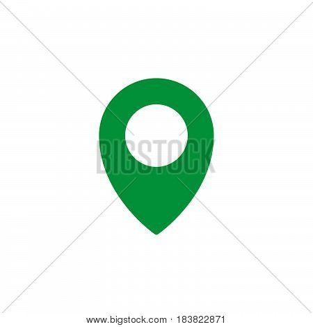 Map pointer pin icon vector filled flat sign solid colorful pictogram isolated on white. Symbol logo illustration. Pixel perfect