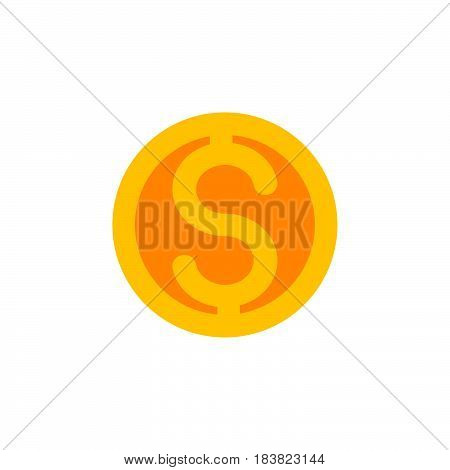 Dollar coin icon vector filled flat sign solid colorful pictogram isolated on white. Symbol logo illustration. Pixel perfect