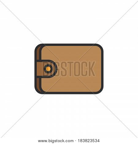 Wallet line icon filled outline vector sign linear colorful pictogram isolated on white. Symbol logo illustration. Editable stroke. Pixel perfect