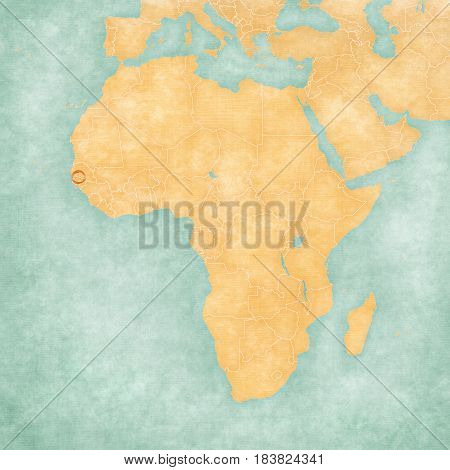 Map Of Africa - The Gambia