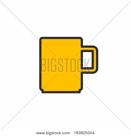 Mug line icon filled outline vector sign linear colorful pictogram isolated on white. Symbol logo illustration. Editable stroke. Pixel perfect