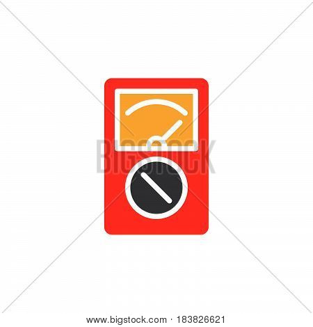 Analog multimeter colorful vector icon filled flat sign solid pictogram isolated on white. Symbol logo illustration. Pixel perfect
