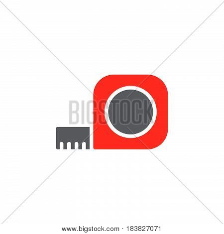 Tape Measure Roll colorful vector icon filled flat sign solid pictogram isolated on white. Symbol logo illustration. Pixel perfect