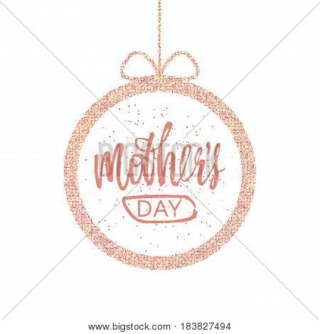 Happy Mother s Day Greeting Card. Frame with a greeting. Vector illustration