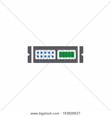 Rack unit server icon vector filled flat sign solid colorful pictogram isolated on white. Symbol logo illustration. Pixel perfect