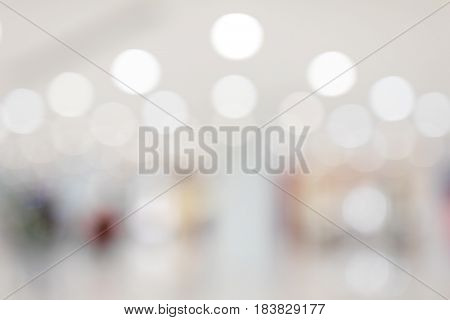 Blur of shopping center at indoor
