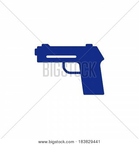 Gun pistol handgun icon vector filled flat sign solid colorful pictogram isolated on white. Firearm symbol logo illustration. Pixel perfect