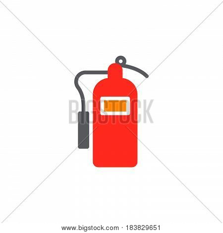 Fire extinguisher icon vector filled flat sign solid colorful pictogram isolated on white. Symbol logo illustration. Pixel perfect