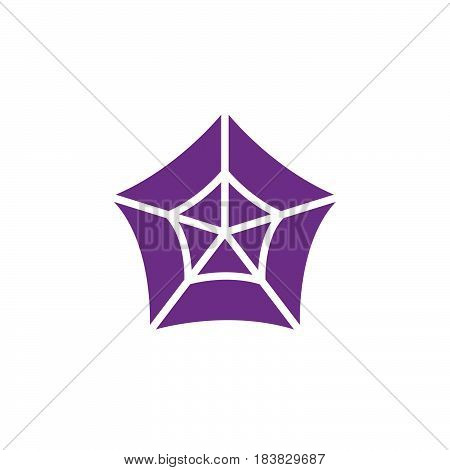 Spider web icon vector filled flat sign solid colorful pictogram isolated on white. Cobweb symbol logo illustration. Pixel perfect