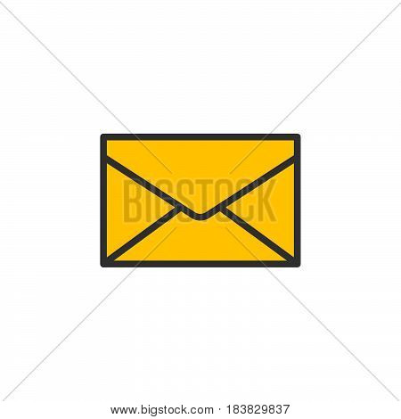 Envelope mail message line icon filled outline vector sign linear colorful pictogram isolated on white. Symbol logo illustration. Editable stroke. Pixel perfect