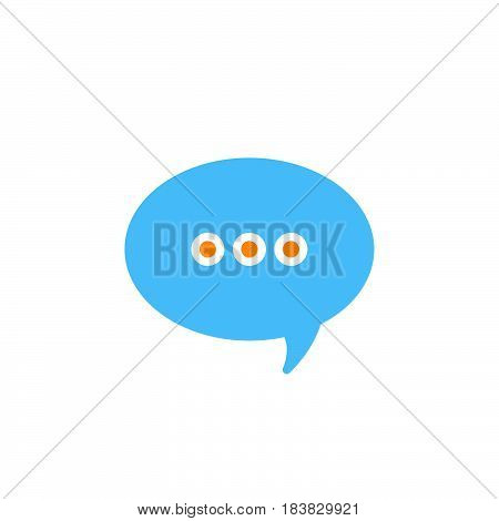Message speech bubble icon vector filled flat sign solid colorful pictogram isolated on white. Symbol logo illustration. Pixel perfect