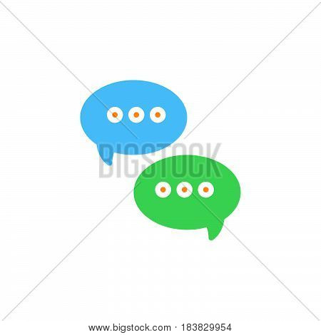 Messages speech bubbles icon vector filled flat sign solid colorful pictogram isolated on white. Symbol logo illustration. Pixel perfect