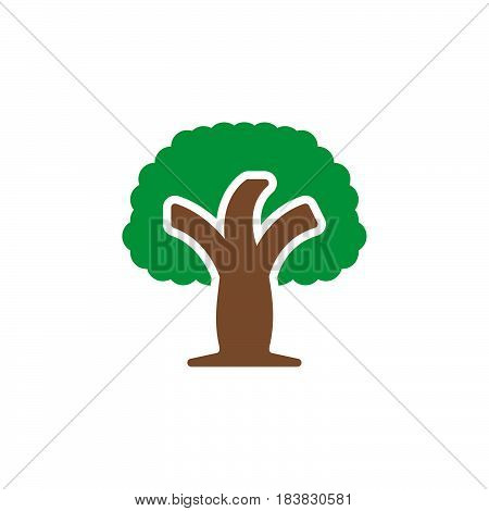 Wood tree icon vector filled flat sign solid colorful pictogram isolated on white. Symbol logo illustration. Pixel perfect
