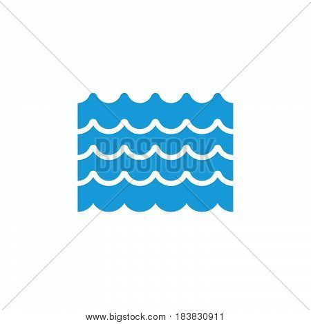 Water flood icon vector filled flat sign solid colorful pictogram isolated on white. Symbol logo illustration. Pixel perfect