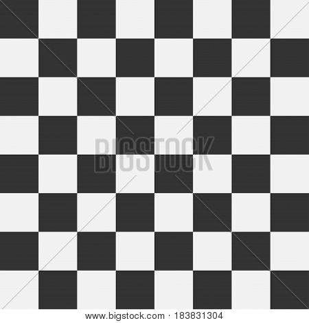 Chess board seamless pattern. Checkered pattern with squares. Vector illustration