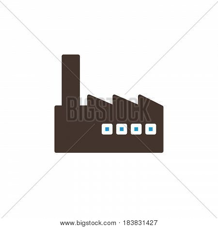 Factory industry icon vector filled flat sign solid colorful pictogram isolated on white. Symbol logo illustration. Pixel perfect
