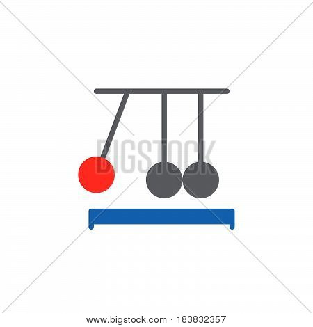 Newton's cradle icon vector filled flat sign solid colorful pictogram isolated on white. Executive ball clicker symbol logo illustration. Pixel perfect