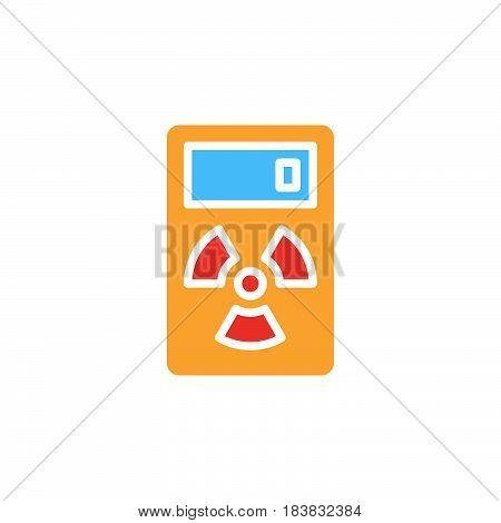 Geiger counter icon vector filled flat sign solid colorful pictogram isolated on white. Radiation measurement device symbol logo illustration. Pixel perfect