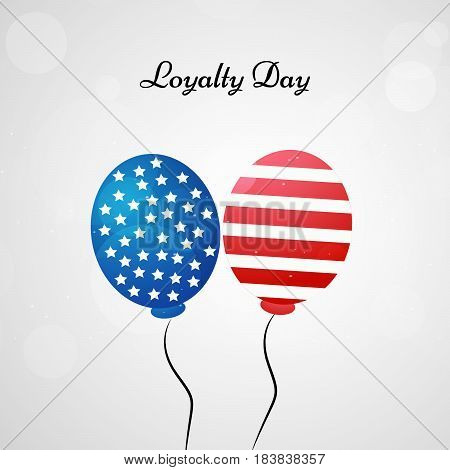 Illustration of balloons with USA Flag for Loyalty Day