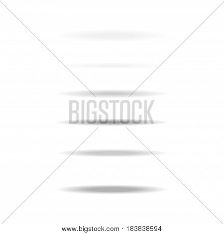 Shadows set isolated on white background. Vector shadows for for tab dividers and objects