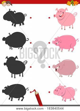 Shadow Activity With Pigs