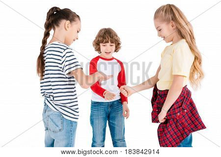 Kids Playing In Counting Out Game