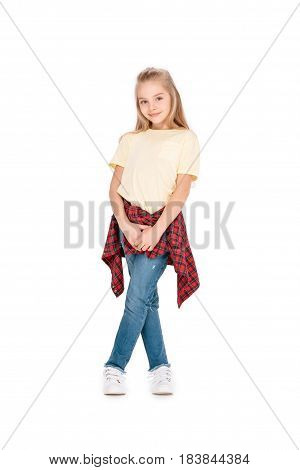 Cute Girl In Casual Clothes