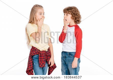 Two Young Friends With Shocked Expression