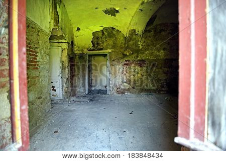 Interior Of An Old Abandoned Castle
