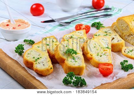 Rolls Stuffed With Minced Chicken Meat