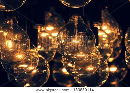Lighting lamps home decoration design interior background
