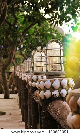 Lighting lamps home outdoor decoration design background