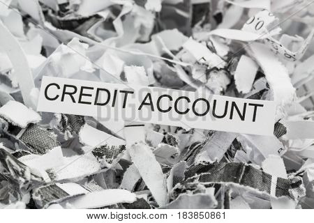 shredded paper credit account