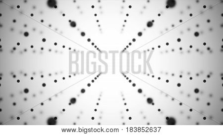 Abstract Background. Matrix Of Glowing Stars With Illusion Of Depth. Abstract Futuristic Space Backg
