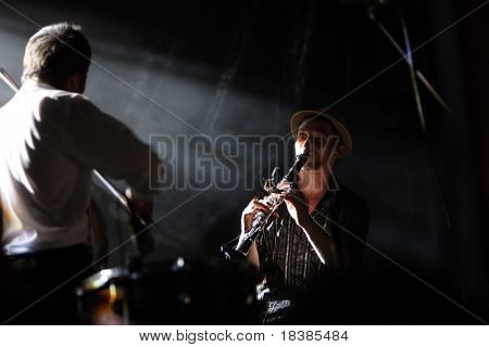 LOULE, PORTUGAL - JUNE 25: Caravan Palace performs onstage at Festival Med June 25, 2008 in Loule, Portugal.