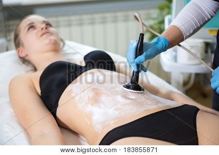 Woman At Beautician's Getting Thermaslim Lavatron Therapy