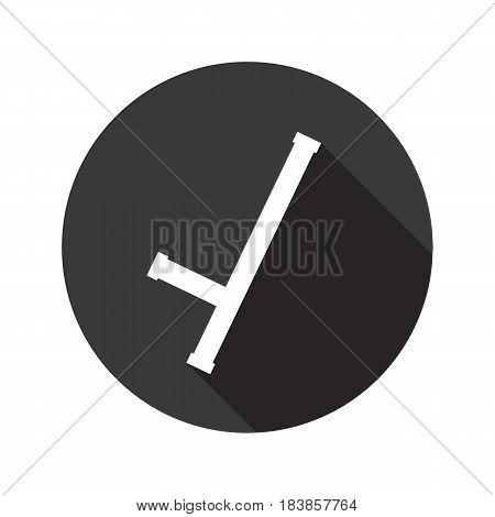 Baton vector flat icon with shadow. Round button