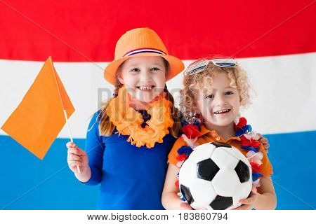 Kids Supporting Netherlands Football Team