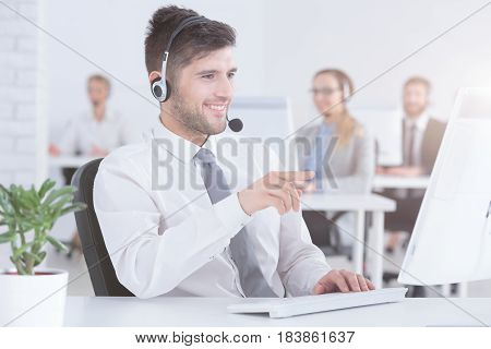 Phone Operator Talking With Customer