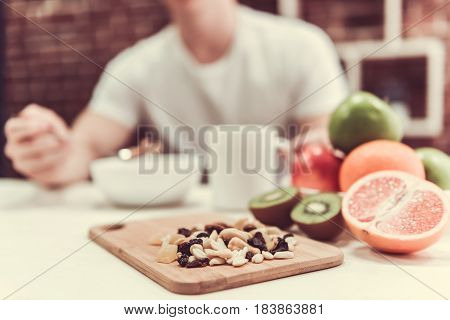 Guy With Healthy Food