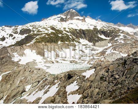 Rhone Glacier Melting