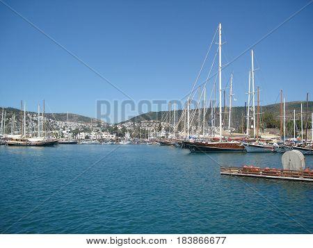 Marina Bodrum, Turkey - boats in the harbor