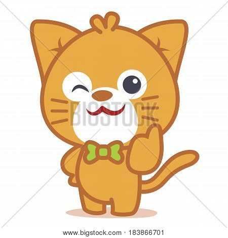 Character of cat pets collection vector illustration