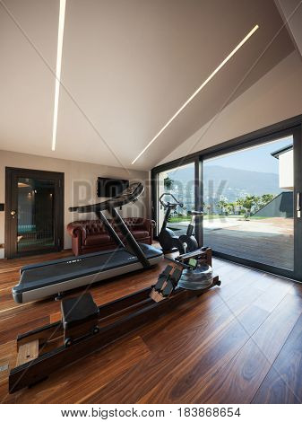 Room for gym in a private house
