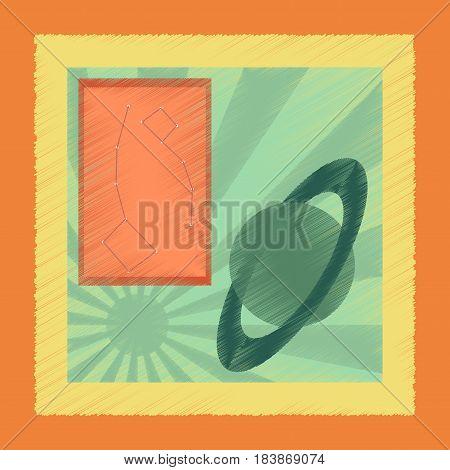 flat shading style icon education astronomy lesson