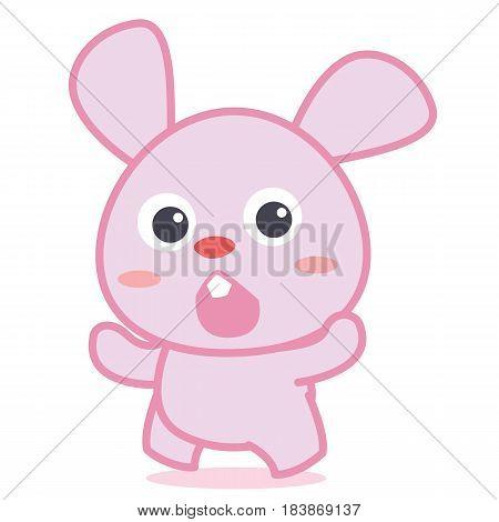 Cute bunny cartoon collection style vector illustration