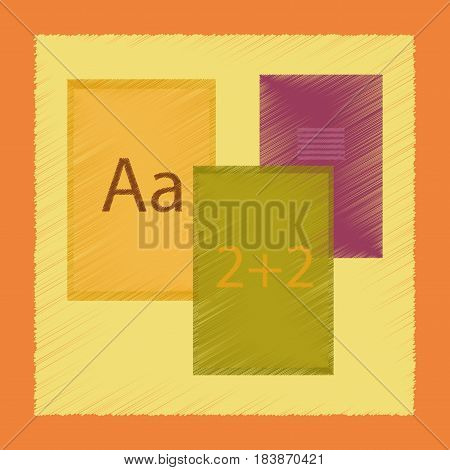 flat shading style icon education school notebooks