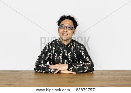Asian Man Studio Shoot Lifestyle Isolated