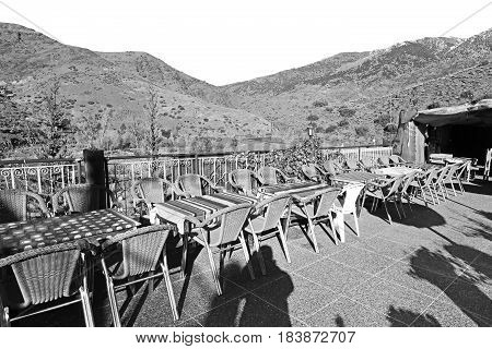 Table  In Todra Gorge  Morocco